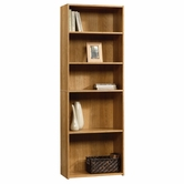 Sauder 413324 Beginnings 5-Shelf Bookcase In Highland Oak Finish