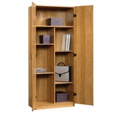 Sauder 413326 Beginnings Storage Cabinet in Highland Oak Finish