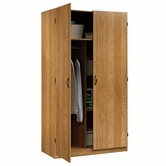 Sauder 413329 Beginnings Storage Cabinet in Highland Oak Finish