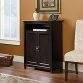 Sauder 413490 Edge Water Smartcenter Cabinet in Estate Black Finish