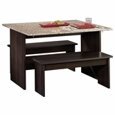 Sauder 413854 Beginnings Table With Benches in Cinnamon Cherry Finish