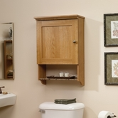 Sauder 414060 Sundial Wall Cabinet in Highland Oak Finish