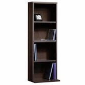 Sauder 414112 Beginnings Multimedia Storage Tower In Cinnamon Cherry Finish