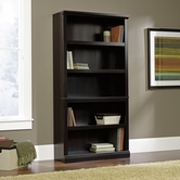 Sauder 414235 5 Shelf Bookcase In Estate Black Finish