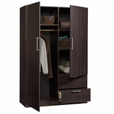 Sauder 414273 Beginnings Wardrobe/Storage Cabinet in Cinnamon Cherry Finish