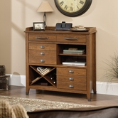 Sauder 414783 Carson Forge Sideboard in Washington Cherry Finish
