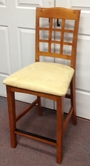 Solid Pine Counter Height Chair in Medium Oak Finish