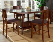 Somerton 152-69B-69T-38 Perspective Counter Height Dining Set