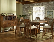 Somerton 417-69B-69T-38 Craftsman Counter Height Dining Set