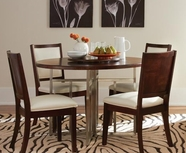 Somerton 432-61-33 Soho Round-Table-wLazy-Susan-Side-Chair Dining Set
