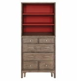 Somerton 802-Single-Dresser-w-Bookcase Improv in G Single Dresser with Bookcase