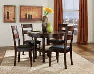 STANDARD 10022 PENDLETON TABLE,LEG & FOUR CHAIRS SET
