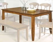 STANDARD 11022 TABLE, LEG W/4 CHAIRS ANTIQUE PINE FINISH