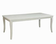 "STANDARD 12021 REGENCY WHITE TABLE,RECTANGLE W/18"" LEAF"