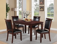 STANDARD 12202 DALLAS TABLE,LEG & FOUR CHAIRS SET