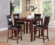 STANDARD 12212 DALLAS TABLE,COUNTER HT & FOUR CHAIRS