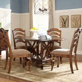 STANDARD 13986-84 CROSSROAD ROUND Casual Dining Set