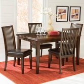 STANDARD 14422 PEYTON TABLE,LEG & FOUR CHAIRS SET