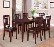 STANDARD 17282 WESTLAKE TABLE,LEG W/6 CHAIRS