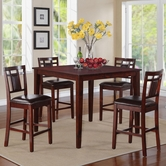 STANDARD 17292 WESTLAKE TABLE,COUNTER HT W/4 STOOLS