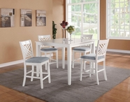 STANDARD 18292 BROOKLYN WHITE TABLE,COUNTER HT W/4 CHAIRS SE