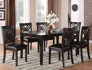 STANDARD 18762 BROOKLYN TABLE,LEG & SIX CHAIRS SET