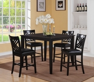 STANDARD 18772 BROOKLYN TABLE,COUNTER HT & 4 CHAIRS SET