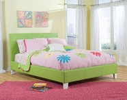 STANDARD 60751-61 FANTASIA Full Upholstered Youth Bed GREEN