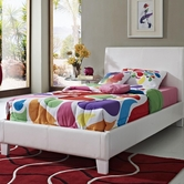 STANDARD 60786-96 FANTASIA Full Upholstered Youth Bed WHITE