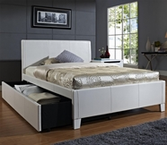 STANDARD 60794-95 FANTASIA Full Upholstered Youth Trundle Bed WHITE