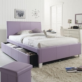 STANDARD 60798-99 FANTASIA Full Upholstered Youth Trundle Bed LAVENDER
