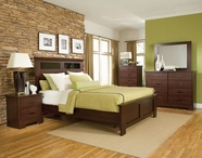 STANDARD 63952-60-62-68-59 MARSHALL MERLOT PANEL BEDROOM SET WITHOUT GLASS
