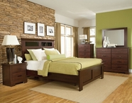 STANDARD 63952-60-62-68-63959-1063959 MARSHALL MERLOT PANEL BEDROOM SET WITH GLASS