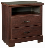 STANDARD 63956-1063956 MARSHALL MERLOT TV CHEST WITH GLASS