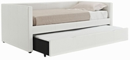 STANDARD 66455-56 LINDSEY Twin Upholstered Daybed with Trundle WHITE