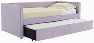 STANDARD 66459-60 LINDSEY Twin Upholstered Daybed with Trundle LAVENDER