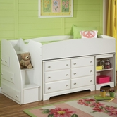 Standard 66943-45-09-08 Reagan Loft Bed With 6 Drawer Dresser And Bookcase Nightstand