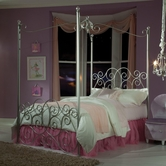 STANDARD 90013-14-16 PRINCESS CANOPY BEDS Full Metal Canopy Bed SILVER