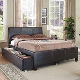 STANDARD 93946-47 NEW YORK Full Brown Trundle Bed