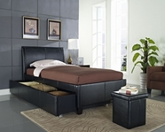 STANDARD 93948-49 NEW YORK Full Black Trundle Bed