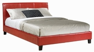 STANDARD 93998-99 NEW YORK Full Red Upholstered Bed