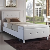 STANDARD 99400 CELINE Upholstered White Full Bed