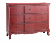 Stein World 12028 Glorianna 3-Drawer Red Chest