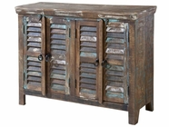Stein World 12320 Louvered 4-Door Cabinet