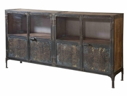 Stein World 12326 Large Console 4 Mirrored & Woven Doors