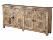 Stein World 12327 Console 4 Wood And Stamped Metal Doors