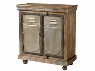 Stein World 12329 Cabinet With 2 Wood & Metal Doors