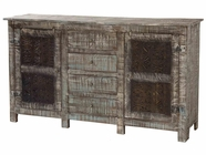 Stein World 12330 4-Drawer, 2-Carved Door Cabinet