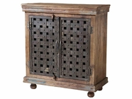 Stein World 12331 Cabinet With 2 Wood & Metal Doors