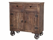Stein World 12340 2-Door Wood Rolling Cabinet